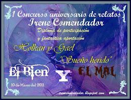 """Diploma """"Concurso El bien y el Mal"""" de Irene Comendador"""