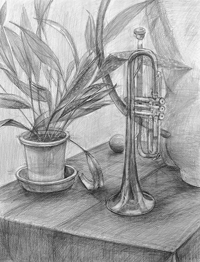 美術クラブ 横浜美術学院の中学生向け教室 たっぷりとした空間を描く「静物デッサン」13