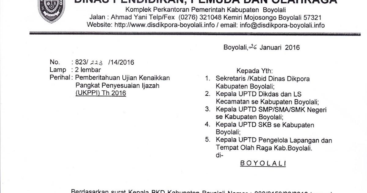 Info Sma Smk Kabupaten Boyolali Pemberitahuan Ujian Kenaikan Pangkat Penyesuaian Ijazah