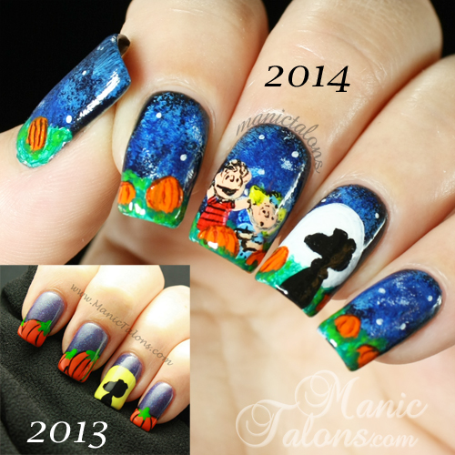 Manic talons gel polish and nail art blog the great pumkin then the great pumkin then and now prinsesfo Gallery