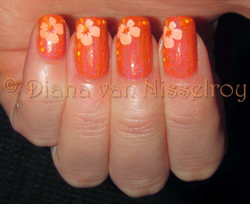 D.I.A.N.A.: NailNation Awesome Sauce with simple nailart
