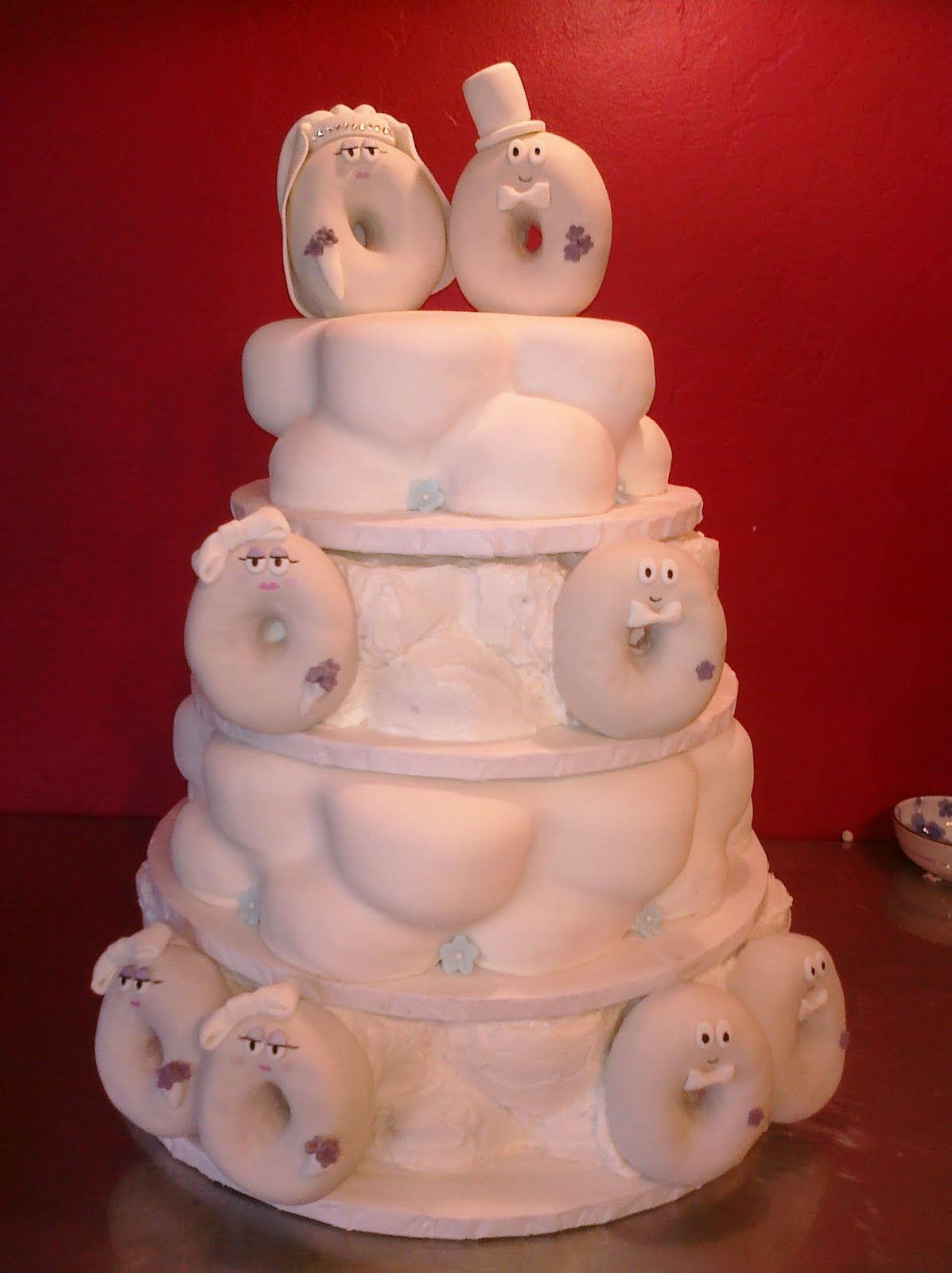 Pams custom cakes donut wedding cake donut wedding cake junglespirit Gallery