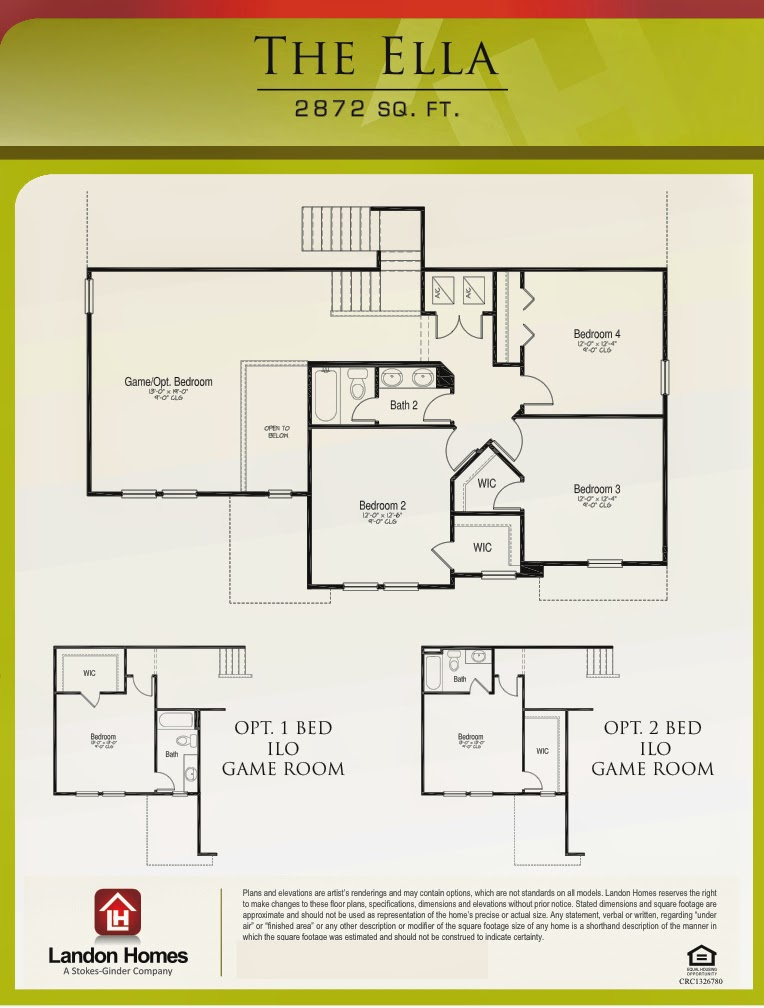 Landon homes featuring the 39 ella 39 floor plan benton for Landon homes floor plans