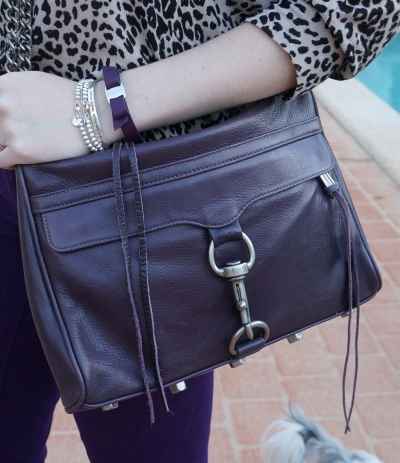 Away From the blue Rebecca Minkoff deep purple MAC