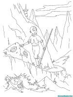 Mewarnai Gambar Avatar Aang Saat Berjalan Melintasi Pegunungan