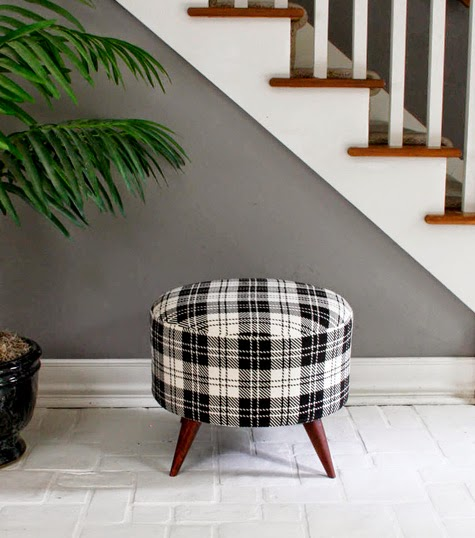DIY Ottoman recycling materials