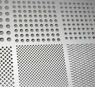 Decorative metal sheets perforated