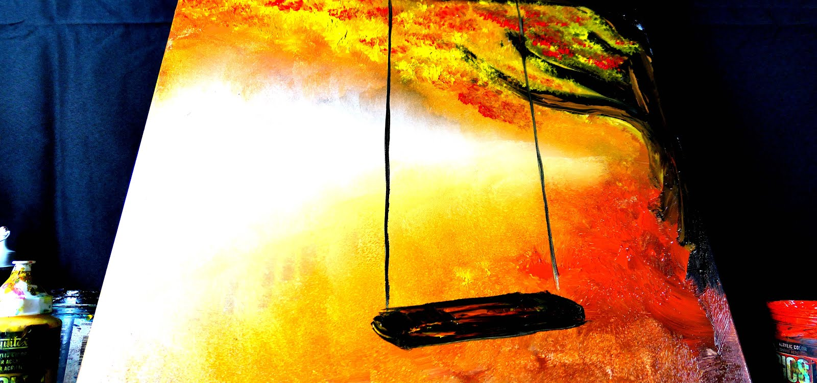 FREE ART VIDEO LESSON - SWING ON A TREE AUTUMN