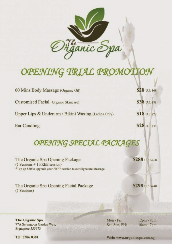 The Organic Spa Opening Promotion