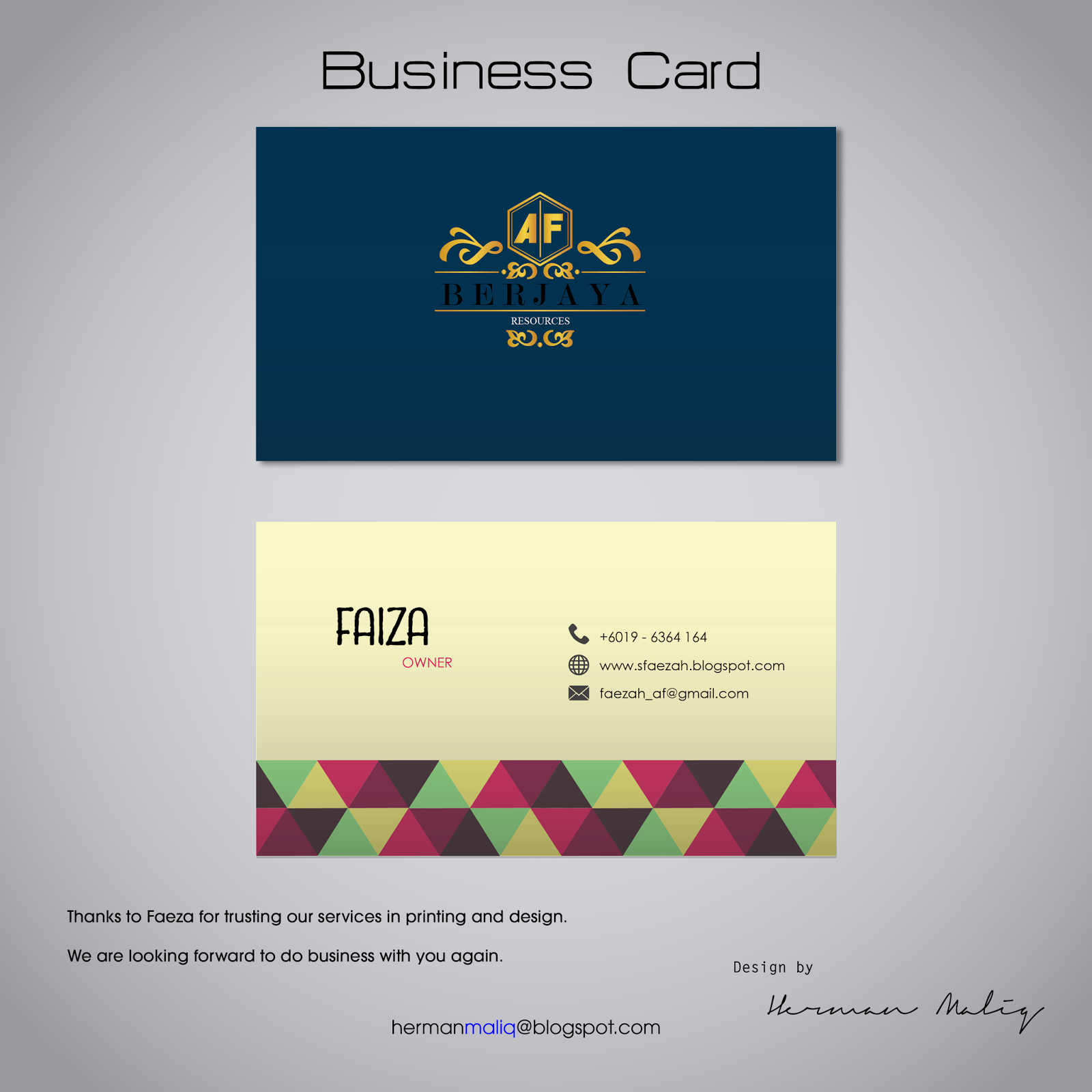 Panas cheap business card murah for Cheapest business cards online
