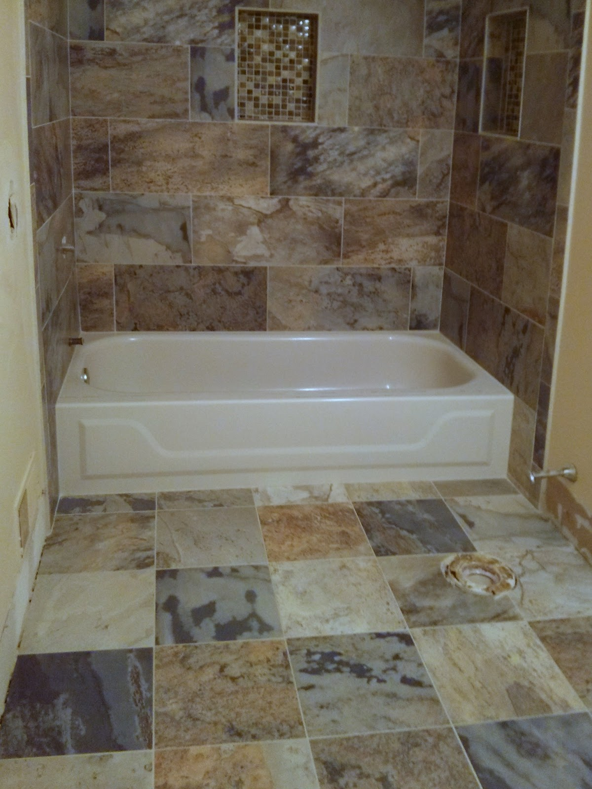 Floor Installation Photos Newtown Pennsylvania Bathroom Porcelain Tile Install