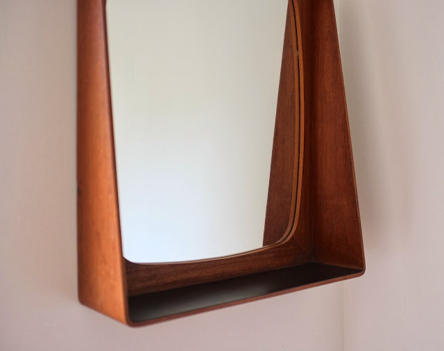 Mid Century Mirror Shelf