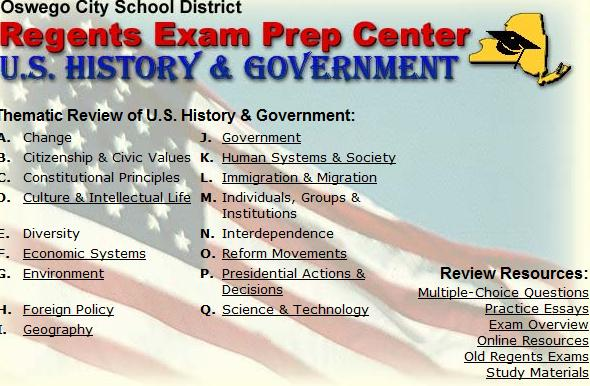 US History Teachers Blog NY Regents Test Prep