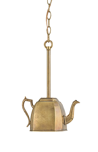 Brass Tea Kettle Kitchen Pendant Lights The Designer Insider - Kitchen pendant lighting brass