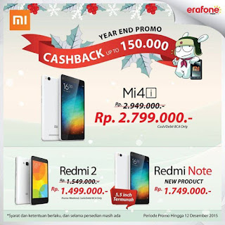 Xiaomi Year End Promo di Erafone