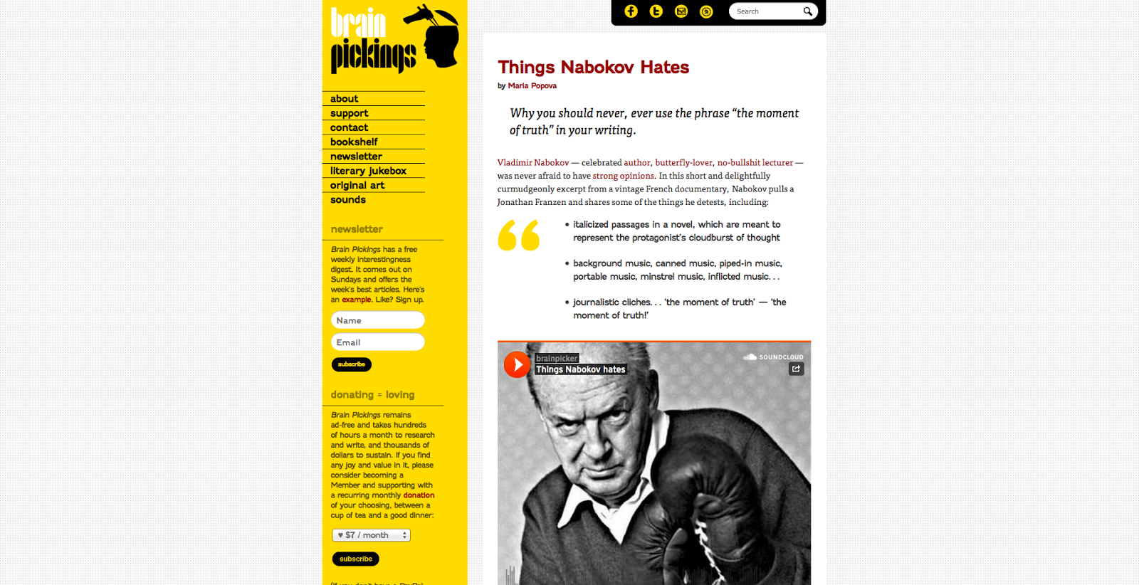 http://www.brainpickings.org/index.php/2013/03/29/things-nabokov-hates/