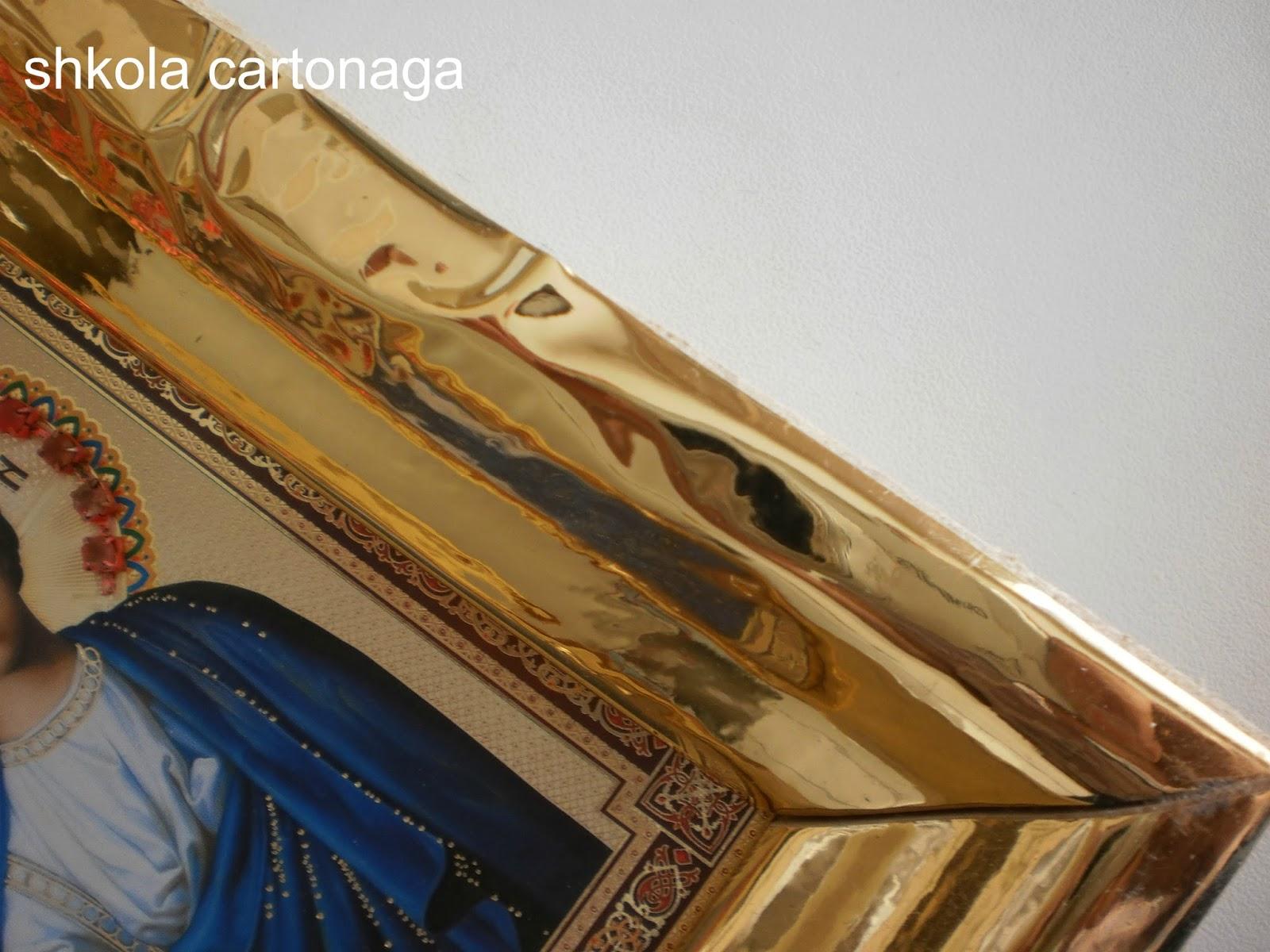 рамка из плинтуса потолочного фото