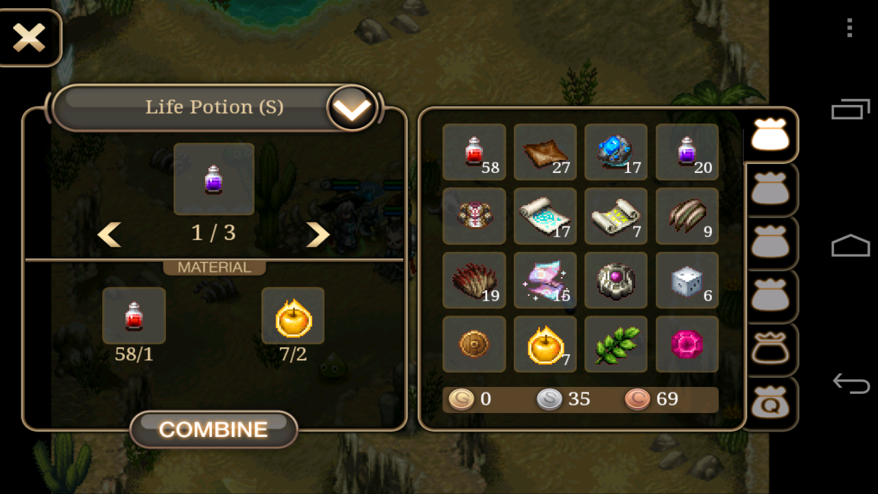 You can also fuse other items like Life Potion and Health Potion