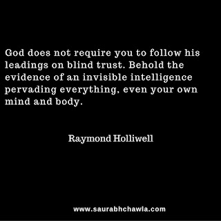 blind trust quotes by Raymond Holliwell