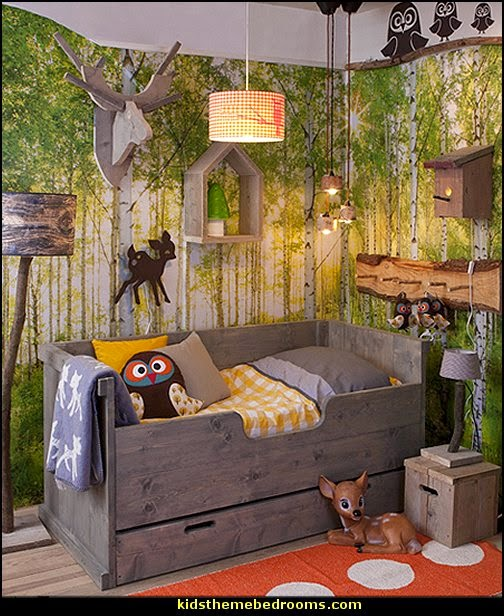 theme bedroom decorating ideas forest animals theme bedroom ideas