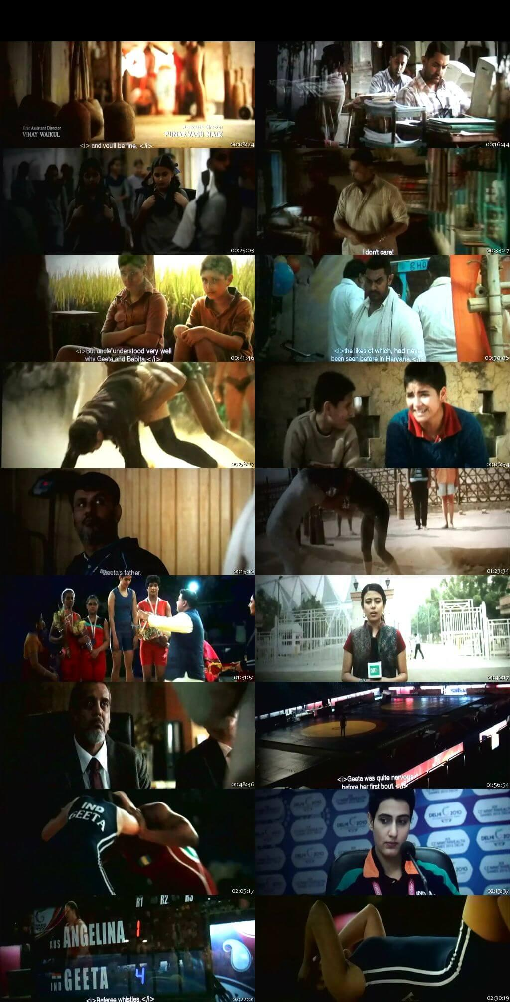 Screen Shot Of Dangal 2016 300MB DVDScr Full Hindi Movie Watch Online Free Download