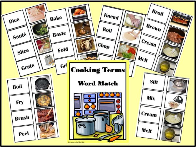 Cooking Term – Cooking Terms Worksheet
