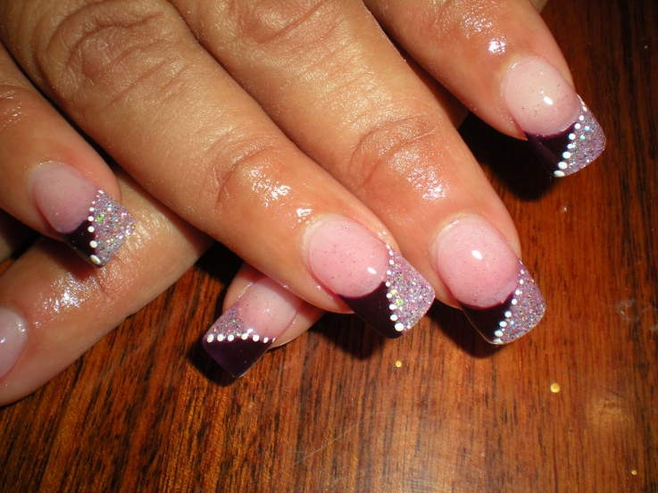 Black French Manicure Nail Art Designs