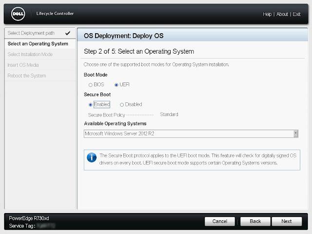 Opcje dotyczące trybu uruchamiania i bezpieczeństwa Secure Boot