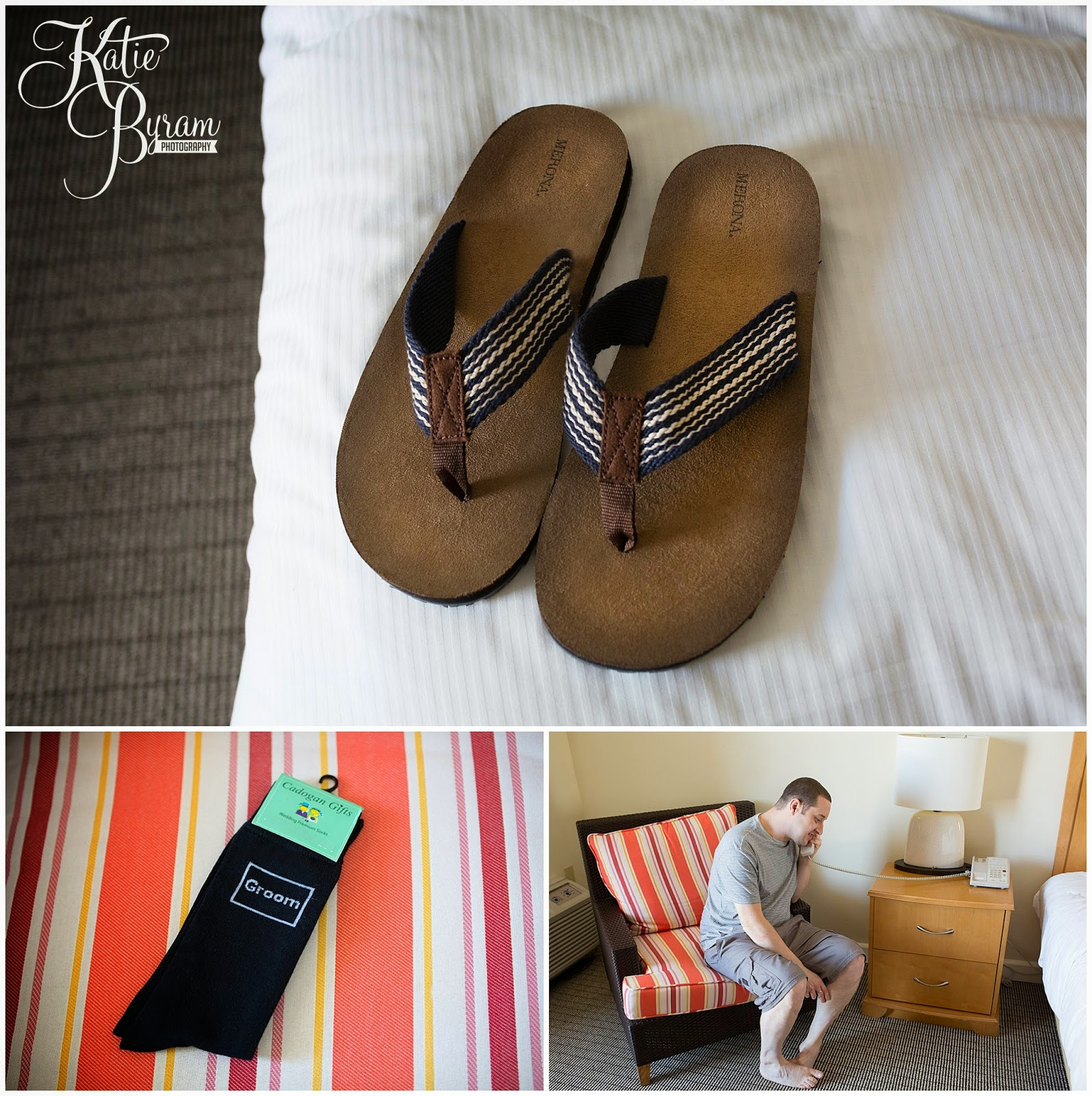 wedding flip flops, groom destination wedding, clearwater beach wedding, hilton clearwater beach wedding, katie byram photography, florida wedding