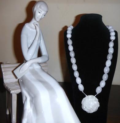 Brujaness Brujaness's Workshop Sterling silver & White Jade Necklace