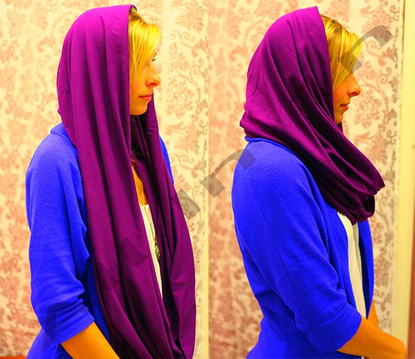how to wear a round neck scarf4