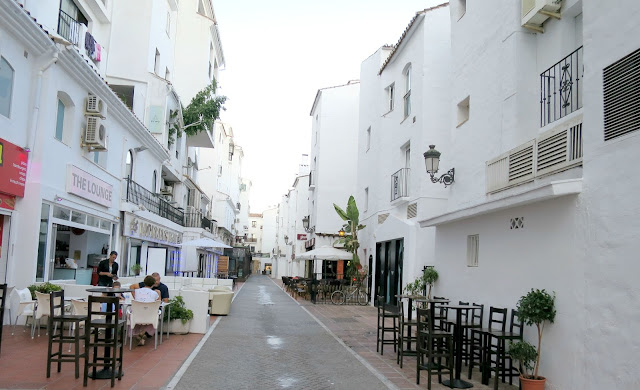 Marbella Spain Summer Holiday Puerto Banus Side Street