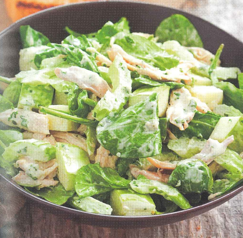 Simmering Sibs: Basil-Parmesan Chicken Salad with Apples