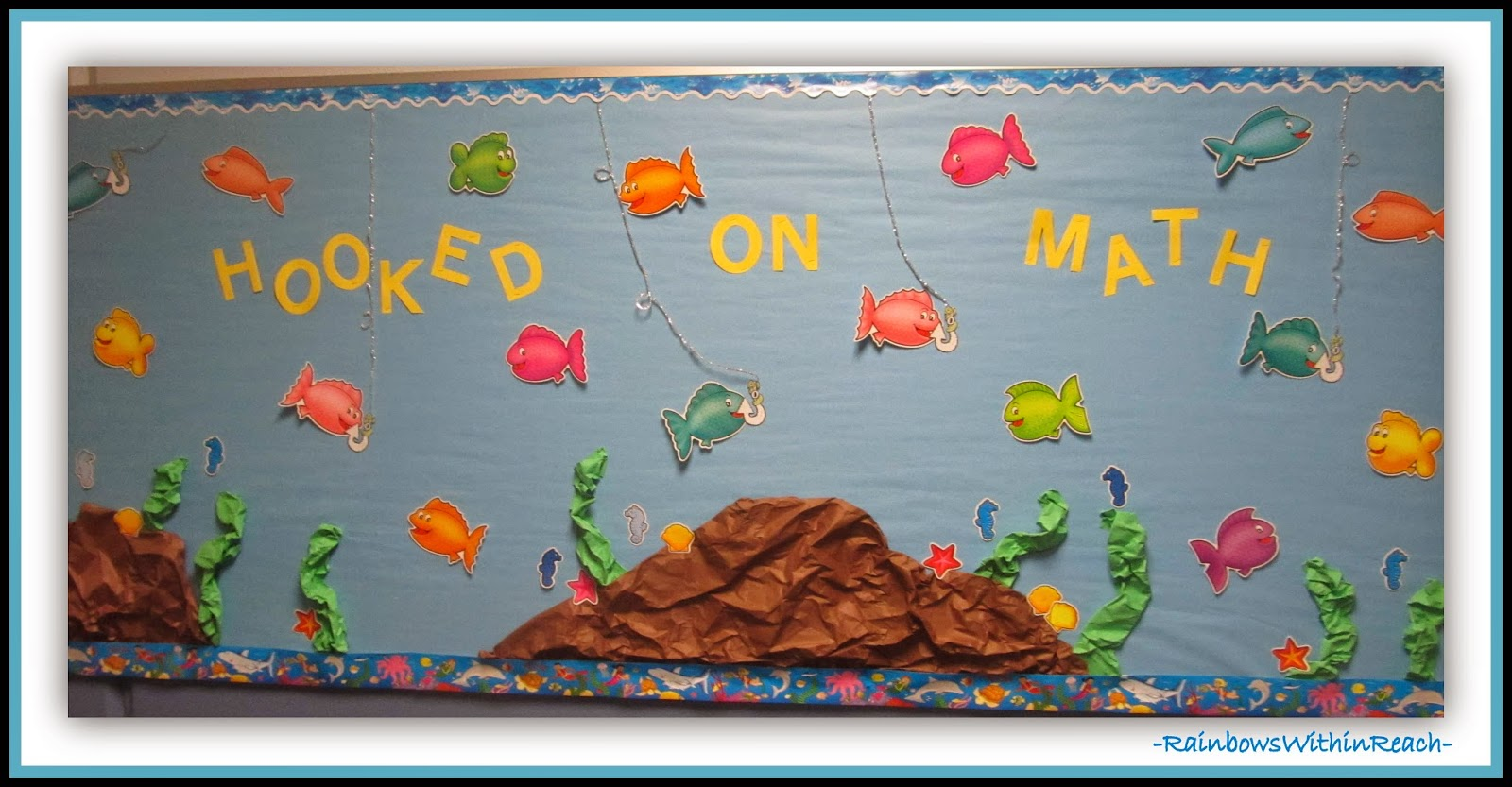 Get Hooked on Math Bulletin Board at RainbowsWithinReach