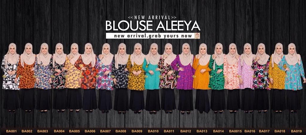 Semuanya Manis Manis Belaka. Blouse Aleeya Nursing Friendly READY STOCK dengan Berpuluh Color