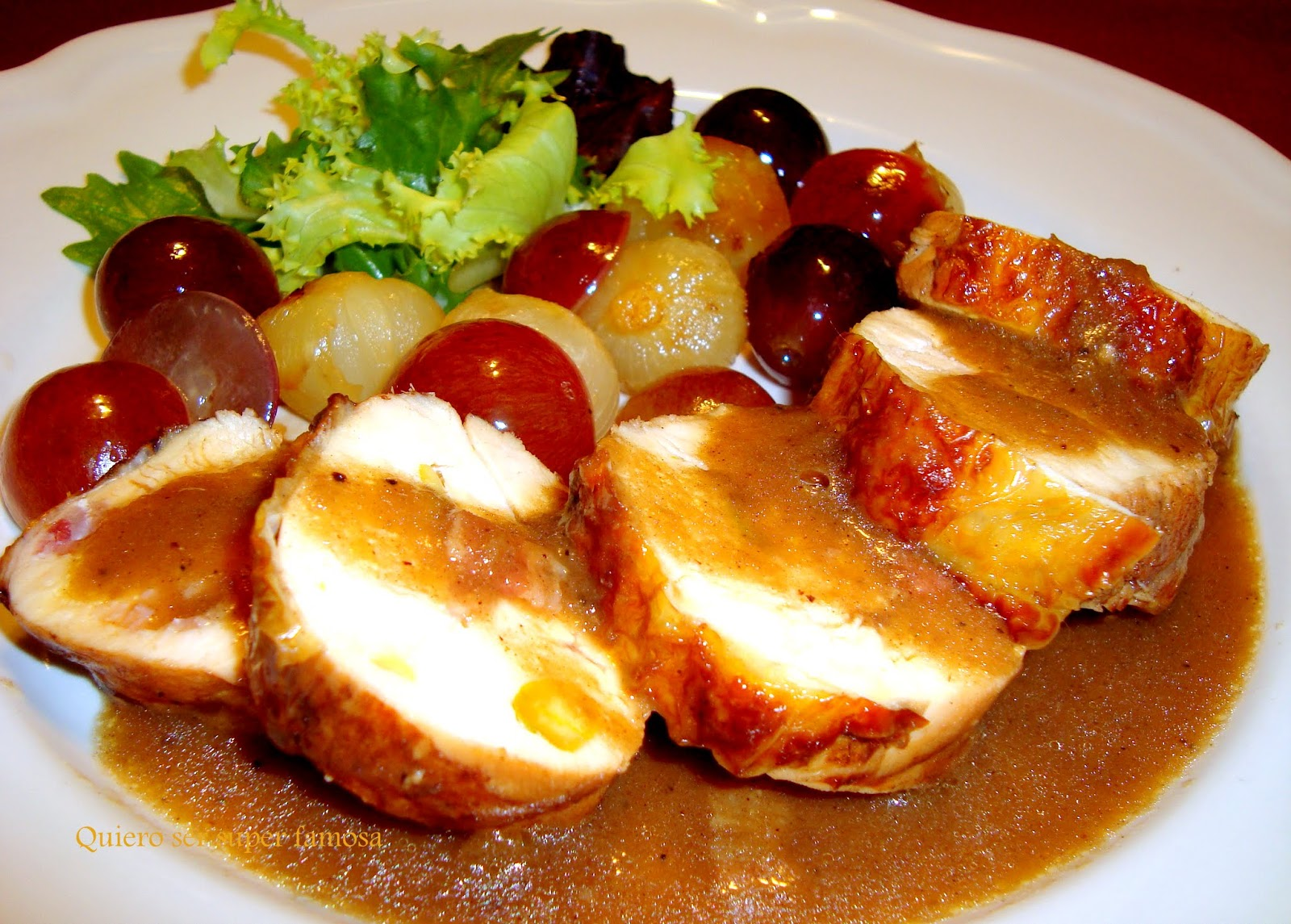 Quiero ser s per famosa pechuga de pollo con salsa de uvas moradas - Salsas para pechuga de pollo ...