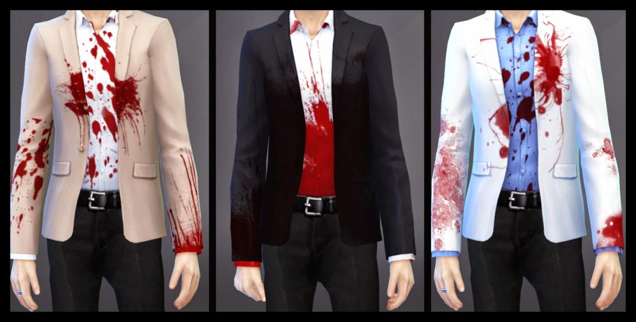 Кровь на одежде для симс 4