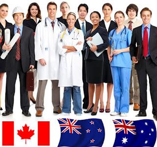 Canada, New Zealand and Australia