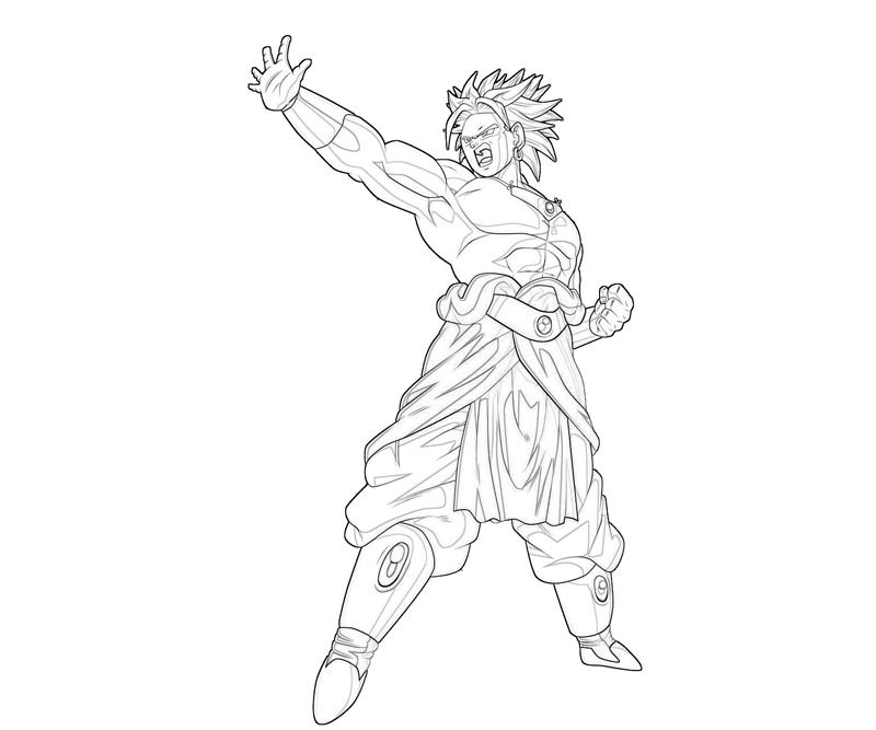 broly coloring pages - photo#4