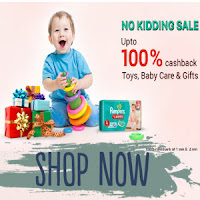 (Live )Paytm : Buy Toy's, Baby Care & Gifts 100% Cashback