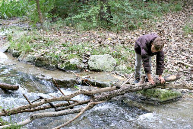 Staudammbauen warme Daunenjacke braun von Reima