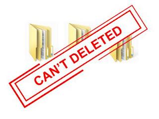folder atau file tidak bisa dihapus