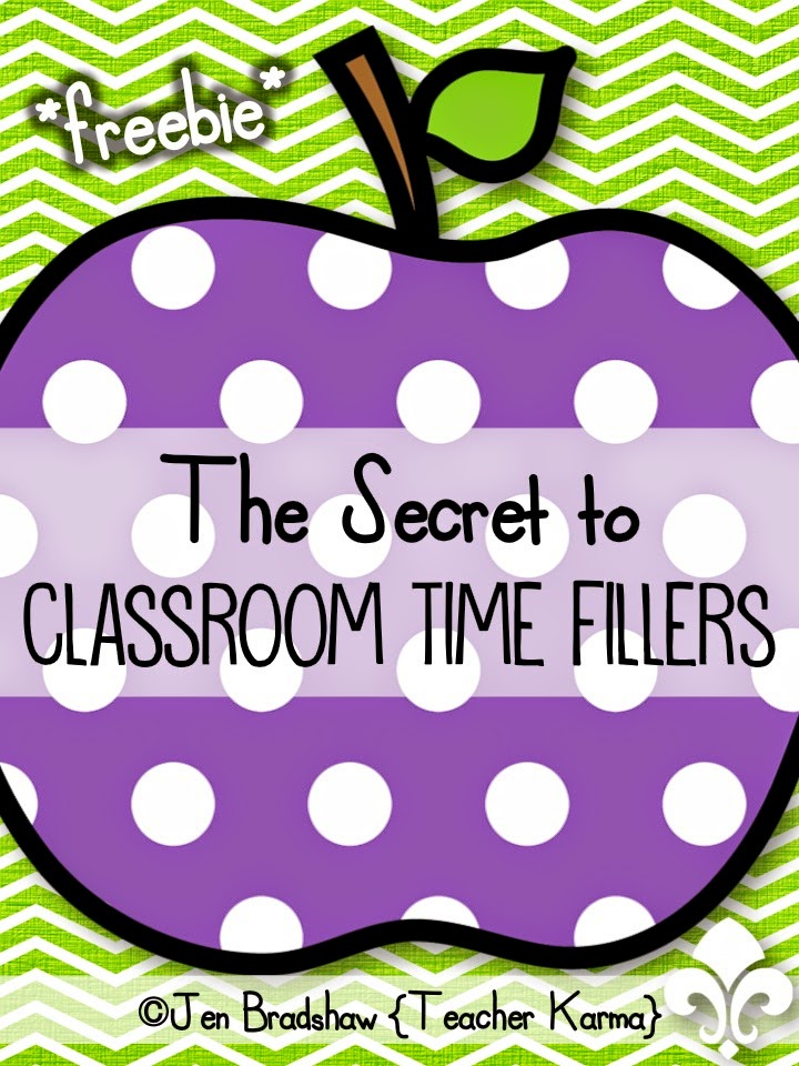 How to use time filling activities in the classroom.  TeacherKarma.com