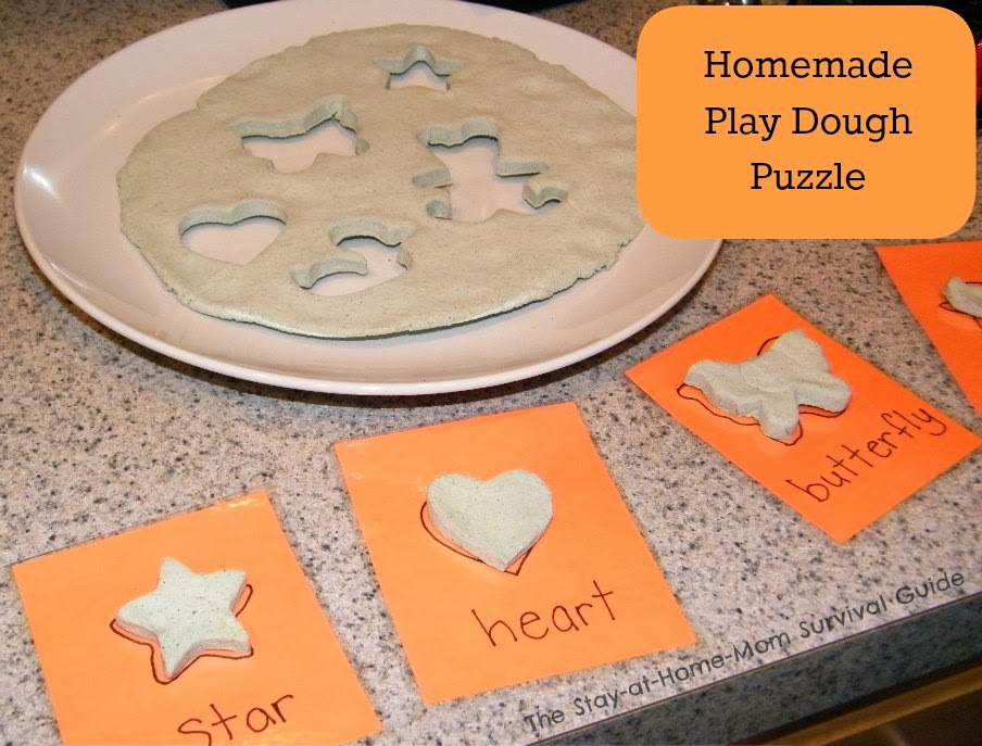 Homemade Play Dough Puzzle from The Stay-at-Home-Mom Survival Guide