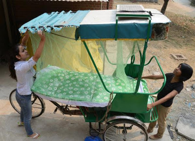 Sukun rickshaws for homeless rickshaw pullers.
