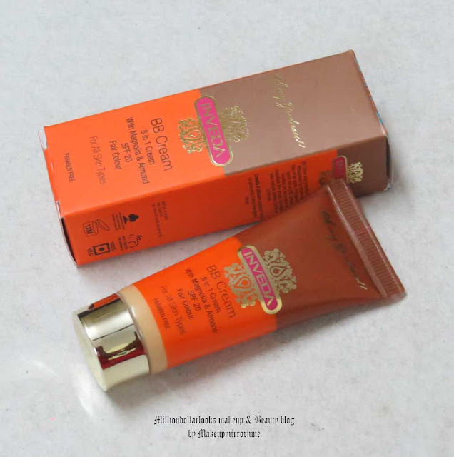 Inveda BB cream review, Swatch & Price, Inveda products range, Inveda BB creme in fair colour, Best BB creams  available in India, Indian beauty blogger, Indian makeup blogger, Top indian beauty blogs, BB cream swatches