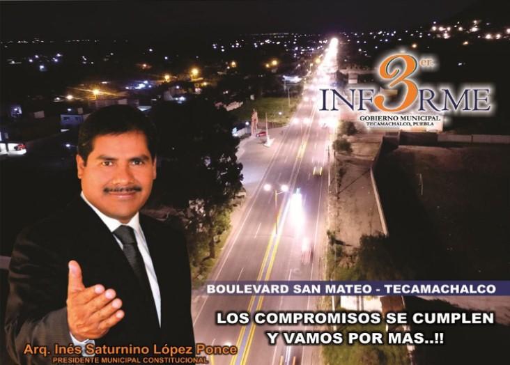 TERCER INFORME. GOBIERNO MUNICIPAL DE TECAMACHALCO