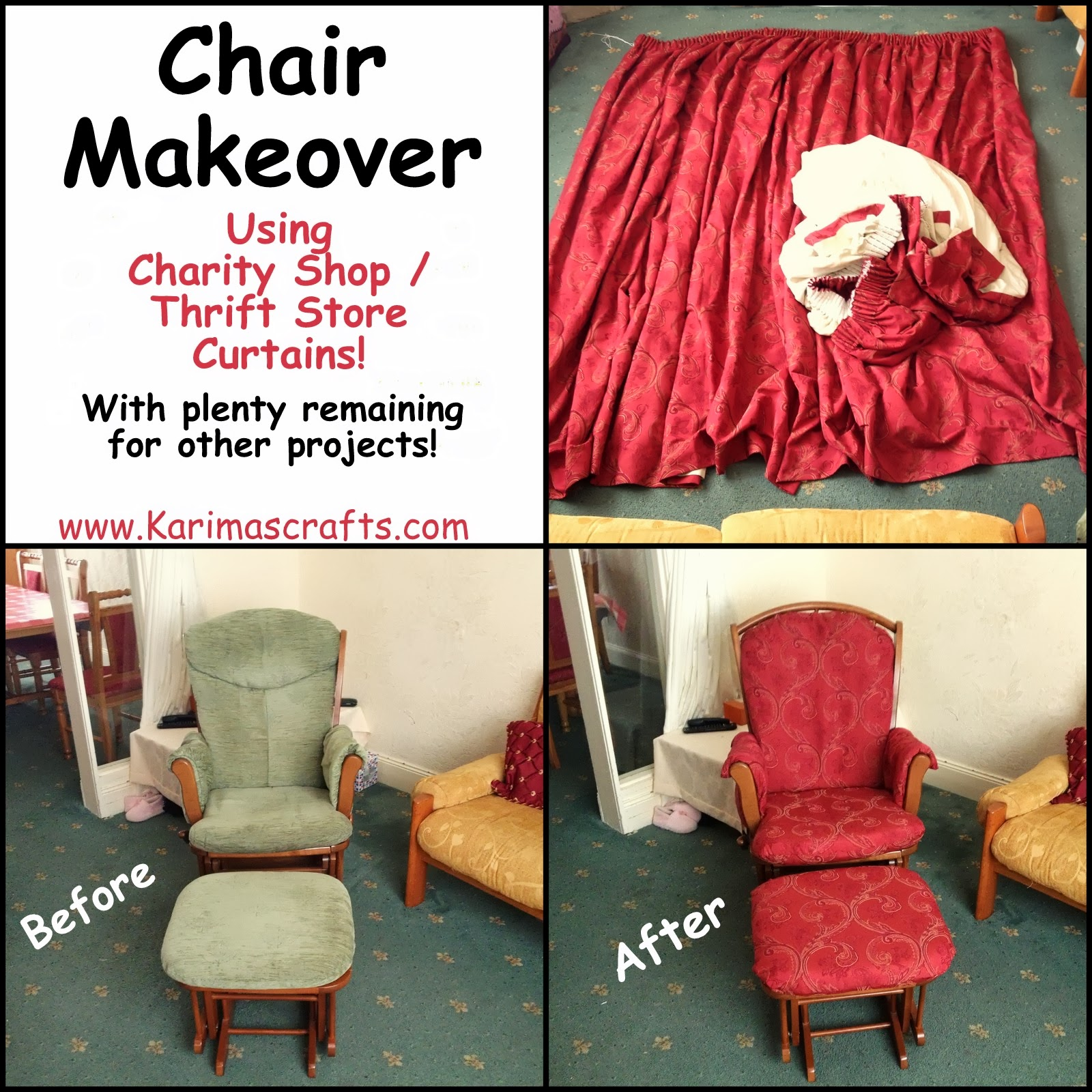 chair makeover muslim blog sewing