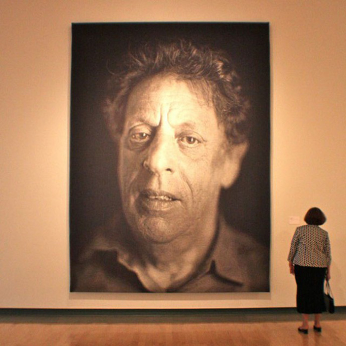 Vivid Hue Home: Fingerpainting by Chuck Close