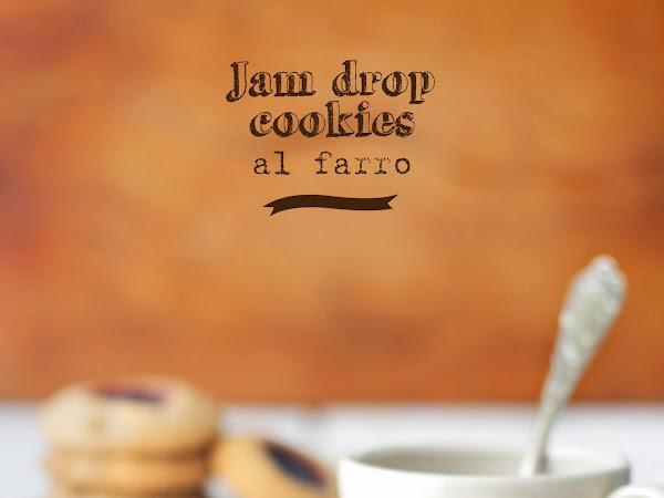 Jam Drop Cookies al farro
